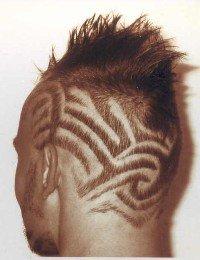 haarmuster rasierte muster schablonen tribals - Muster In Haare Rasieren
