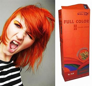 Rot orange haare braun farben